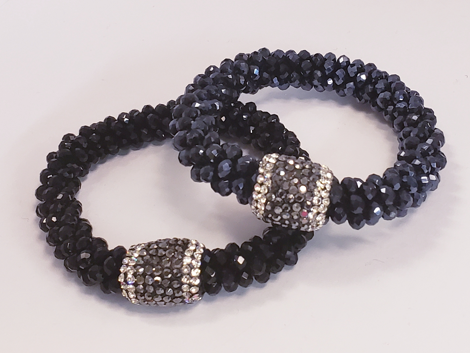 Black Beaded Sparkle Bracelet
