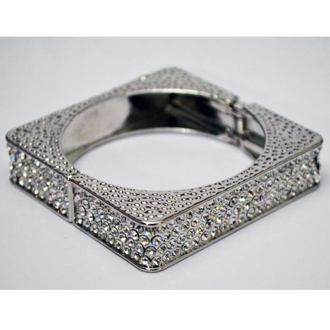 Silverstone Bracelet with Clear Crystals